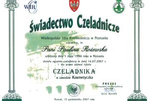 Kosmetyczka - czeladnik Saphona Poznań