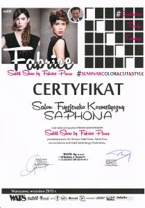 Szkolenie fryzjerskie SUBTIL Fabrice Parra Saphona Poznań