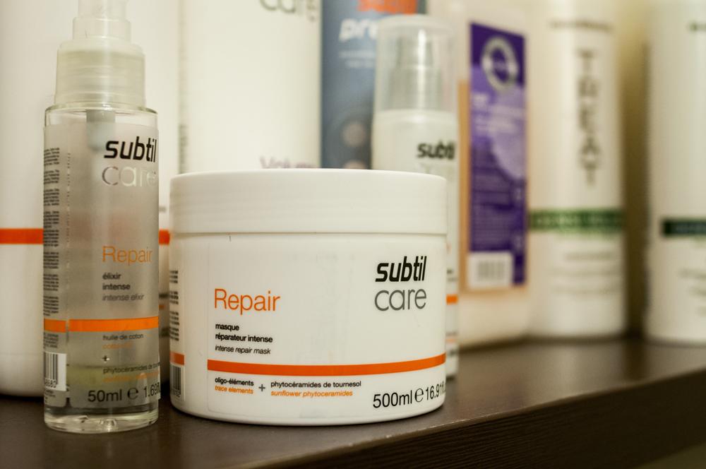 Odbudowa włosa kosmetykami Subtil Laboratoire Ducastel.